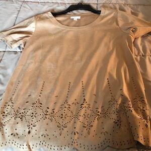 Tops - Tan short sleeve decorative dress shirt